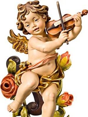Angel musical violin con Ramo de Flores
