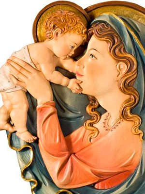 Relieve Virgen Maternidad